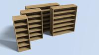 3d book bookshelf shelf model