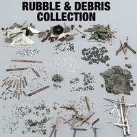 rubble debris 3d model
