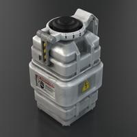 3d model futuristic grenade