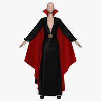 3d model dress cloak