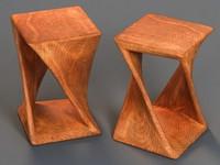 3ds max end table golden oak wood