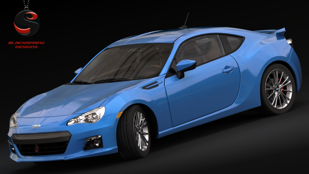 subaru brz 2015 3d model. Black Bedroom Furniture Sets. Home Design Ideas