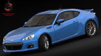 3d model subaru brz 2015