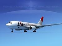 boeing 767 767-100 3d max