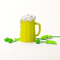 3dsmax beer mug