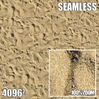 4096 Seamless Texture Beach