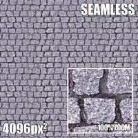 4096 Seamless Texture Street Brick