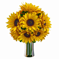 3d sunflower bouquet flower model