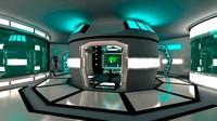 3d sci-fi space room model