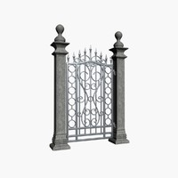 3d entry wrought iron model