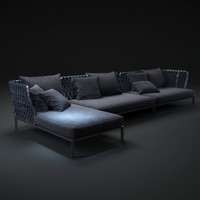 3d bb-italia-outdoor-ravel-sofa model