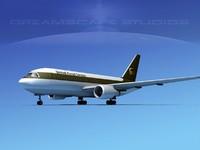 3d model of boeing 767 767-100