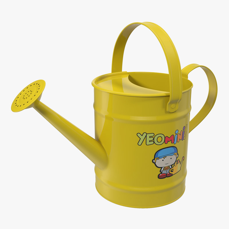Kids Watering Can Yellow 3d model 01.jpg