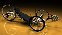 3d model vortex recumbent bicycle