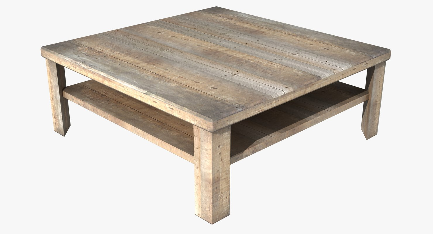 Square coffee table 3d model for Coffee table 3d model