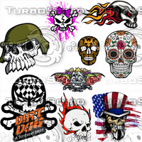 Skull Car Sticker/Decal Collection