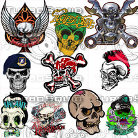 Skull Car Sticker/Decal Collection II