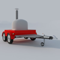 3d model pizza oven mobile