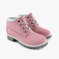 3d woman pink boot