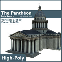 panthéon paris 3d model