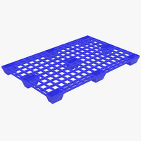 3ds plastic pallet blue