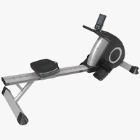 3d rowing machine generic model