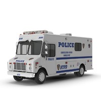 nypd car morgan van 3d model