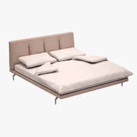 bed set zanotta 3d model