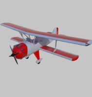 3d model plane biplane
