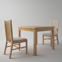 ikea table chair 3d max