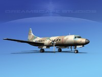 3dsmax propellers convair c-131 military transport