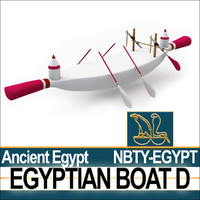 3d ancient egypt boat d