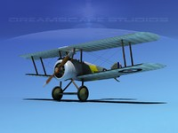 3dsmax sopwith camel fighter