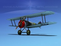 3d sopwith camel fighter