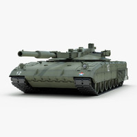 russian t14 armata battle tank 3d 3ds