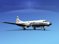 3d model propellers convair military transport