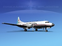 propellers convair military transport 3d max