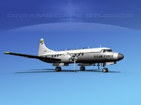 propellers convair military transport 3d dxf