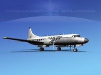 propellers convair t-29 usaf 3d model