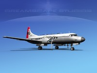 3ds max propellers convair military transport