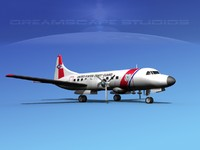 propellers convair c-131 military transport 3d model