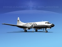 propellers convair c-131 military transport 3d max