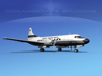 3ds max propellers convair c-131 military transport