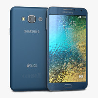 samsung galaxy e7 blue 3d model