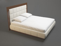 photorealistic modern fashion bed 3d model