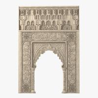 oriental portal 3d model