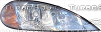 Megane car front light texture