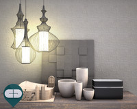3d object interior set