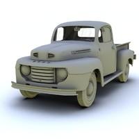 classic 1950 3d model