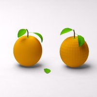 3d cartoon oranges